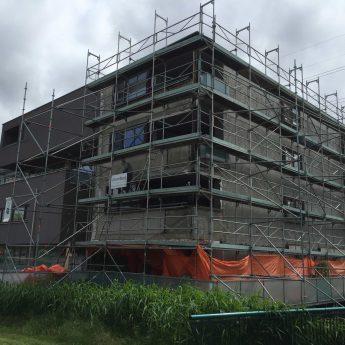 Appartementencomplex gestript zonder isolatie - veraf