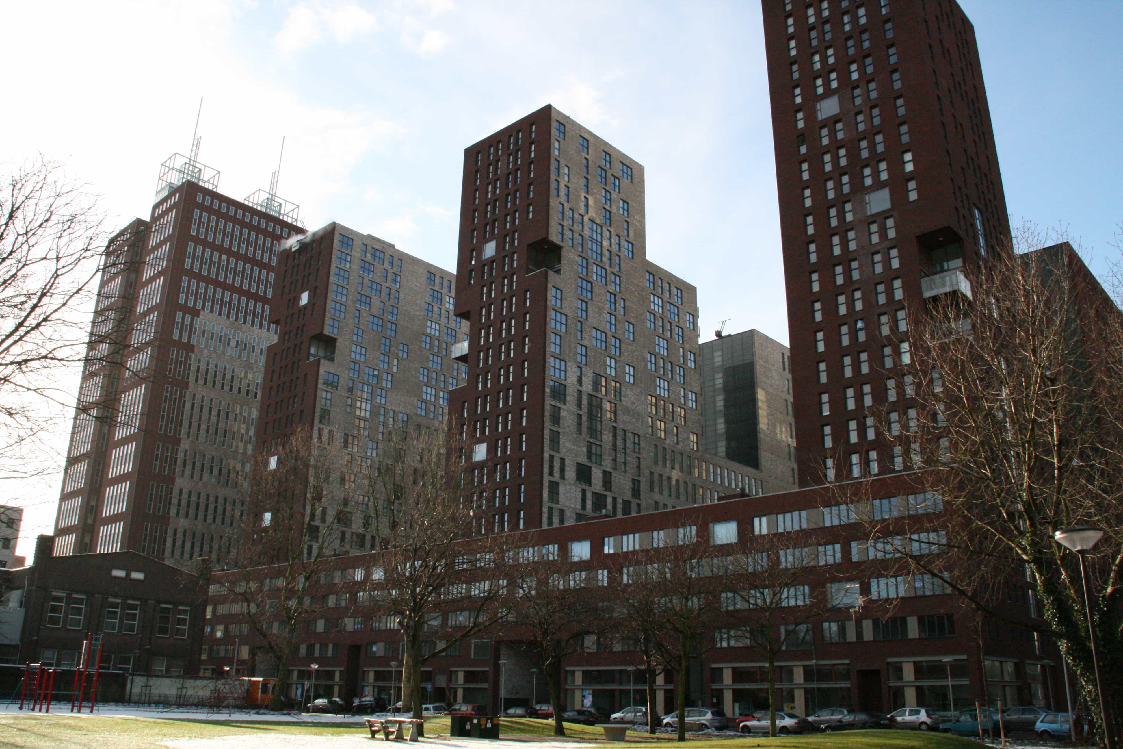 Vier appartementcomplexen